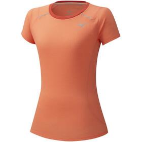 Mizuno Dry Aeroflow T-Shirt Femme, fusion coral
